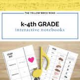 Kindergarten-4th Grade Music Interactive Notebook Bundle