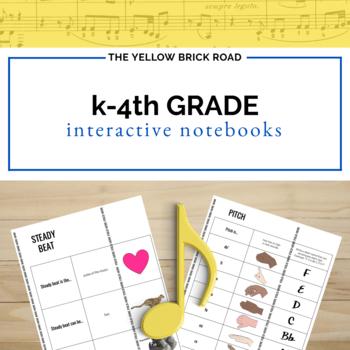 Kindergarten-4th Grade Music Interactive Notebook Bundle