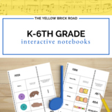 Kindergarten-6th Grade Music Interactive Notebook Bundle
