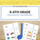 Kindergarten-6th Grade Music Interactive Notebook Bundle