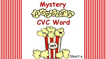 Interactive Mystery Popcorn Short e CVC Word
