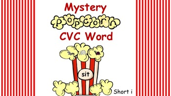 Interactive Mystery Popcorn Short i CVC Word