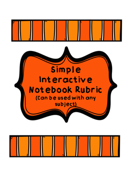 Interactive NB Rubric (Any Subject)