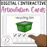 Interactive NO PRINT Articulation Cards Teletherapy Distance Learning