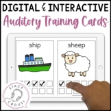 Interactive NO PRINT Auditory Training Word Discrimination Cards