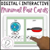 Interactive NO PRINT Minimal Pair Cards for Phonology