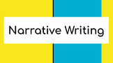 Interactive Narrative Writing Google Slides Presentation w/ Additional Resources