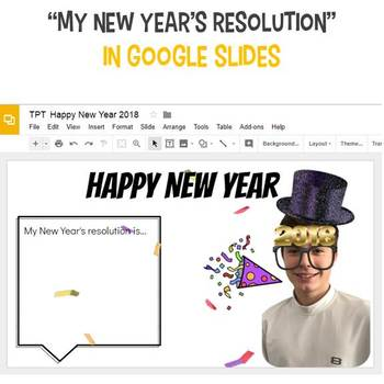 New Years Google Slides Interactive