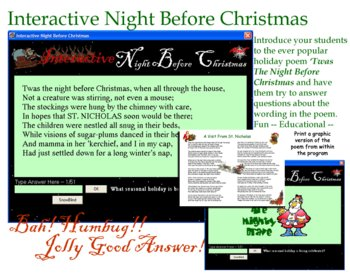 Interactive Night Before Christmas New Version
