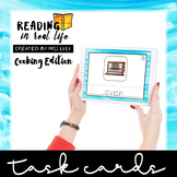 Interactive, No Print Cooking Task Cards {Reading in Real Life}
