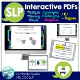 Interactive No Print PDF Bundle for SLPs