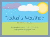 Interactive No Print Weather Activity for iPad, Tablet, Co