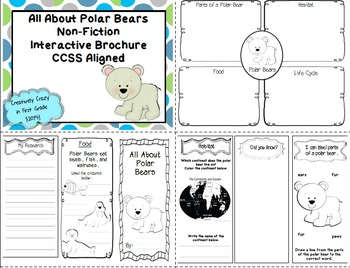 Non-Fiction Interactive Brochure Bundle (7 Topics) Research, Writing, & Tech.