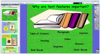 Interactive Non-Fiction Text Feature Flipchart