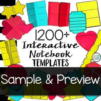 Interactive Notebook Templates 1200+ Freebie Sample & Preview