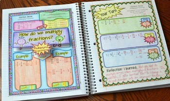 7th Grade Math Interactive Notebook Distance Learning