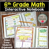 6th Grade Math Interactive Notebook Distance Learning