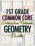Interactive Notebook: 1st Grade CCSS Geometry BUNDLE
