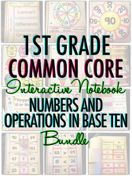 Interactive Notebook: 1st Grade CCSS Numbers and Operations in Base Ten BUNDLE