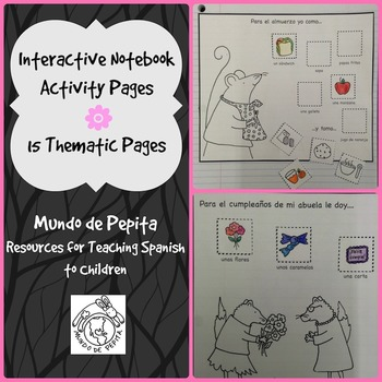 Interactive Notebook #2 Activity Pages Spanish Printable Activities
