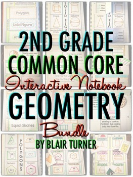 Interactive Notebook: 2nd Grade CCSS Geometry BUNDLE
