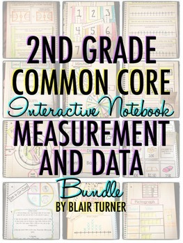 Interactive Notebook: 2nd Grade CCSS Measurement and Data BUNDLE