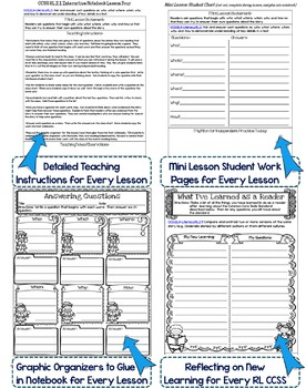 Interactive Notebook: 2nd Grade Reading Literature {Cover Every Grade 2 RL CCSS}