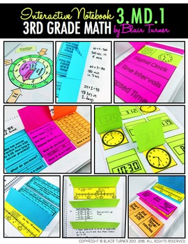 Interactive Notebook: 3rd Grade CCSS Measurement and Data BUNDLE