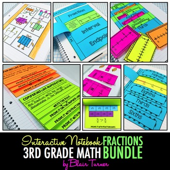 Interactive Notebook: 3rd Grade CCSS Numbers and Operations - Fractions BUNDLE