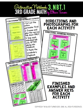 Interactive Notebook: 3rd Grade CCSS Numbers and Operations in Base Ten BUNDLE