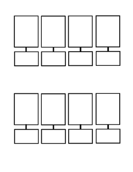 Interactive Notebook: 4 Step Box Template