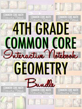 Interactive Notebook: 4th Grade CCSS Geometry BUNDLE