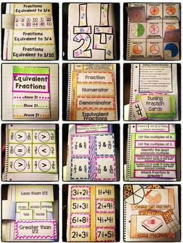 Interactive Notebook: 4th Grade CCSS Numbers and Operations - FRACTIONS BUNDLE