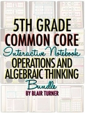 Interactive Notebook: 5th Grade CCSS Operations and Algebraic Thinking BUNDLE