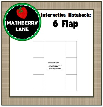 Interactive Notebook: 6 Flap Book Editable Templates in Word Free Foldable Notes