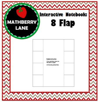 Interactive Notebook: 8 Flap Book Editable Templates in Word - Foldable Notes