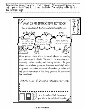 Interactive Notebook Student User's Guide