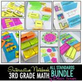 Math Interactive Notebook: 3rd Grade Common Core ALL STANDARDS BUNDLE