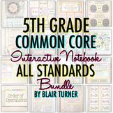 Math Interactive Notebook: 5TH GRADE ALL STANDARDS BUNDLE