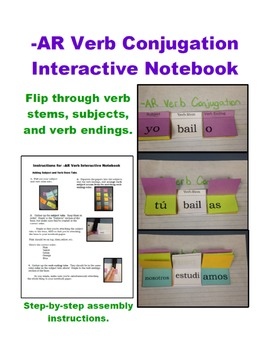 Interactive Notebook -AR Verb Conjugation Chart