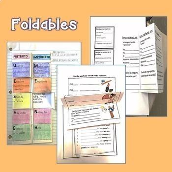 Interactive Notebook Activites for Spanish Three