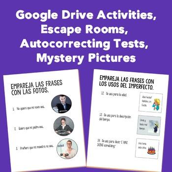 Spanish Three Interactive Notebook and Google Drive Activites