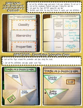 Interactive Notebook Activities - 2-D Figure Hierarchies {5.G.4}