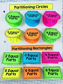 Partitioning Shapes Interactive Notebook {3.G.2}