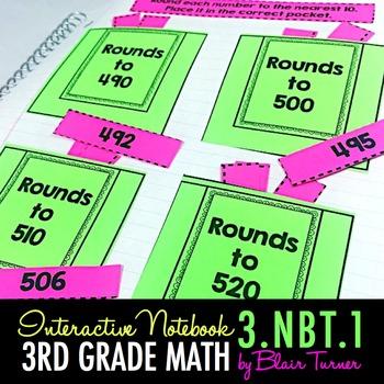 Rounding Interactive Notebook {3.NBT.1}
