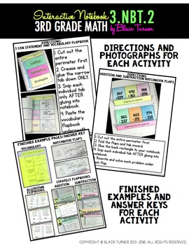 Addition and Subtraction within 1000 Interactive Notebook {3.NBT.2}