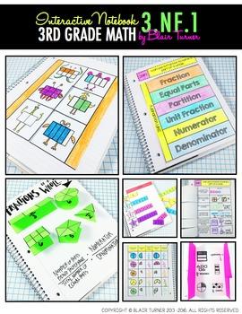 Interactive Notebook Activities - Understanding Fractions {3.NF.1}