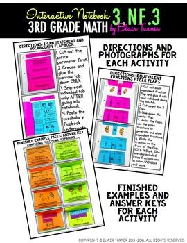 Interactive Notebook Activities - Equivalent Fractions {3.NF.3}