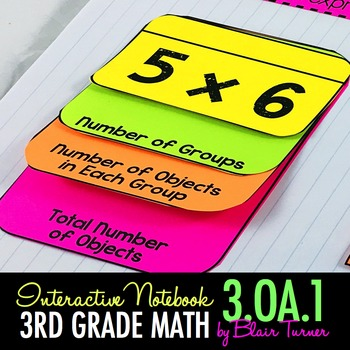 Interactive Notebook - Multiplication {3.OA.1}