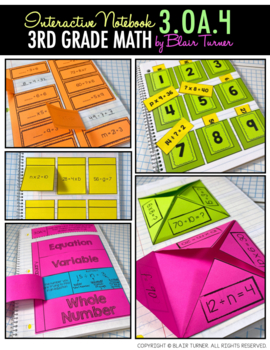 Interactive Notebook Activities - Unknown Numbers {3.OA.4}